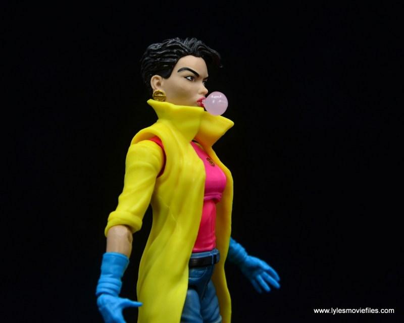 Marvel Legends Jubilee figure review - bubble gum head side