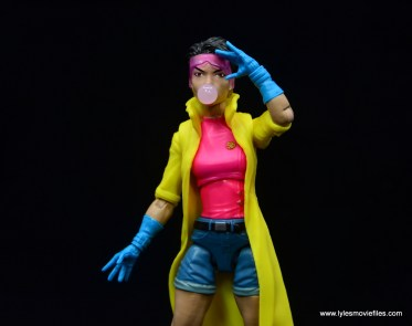 Marvel Legends Jubilee figure review - raising goggles