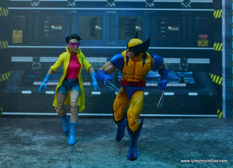 Marvel Legends Jubilee figure review - walking with wolverine