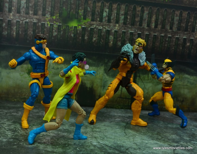 Marvel Legends Jubilee figure review - with cyclops vs sabretooth