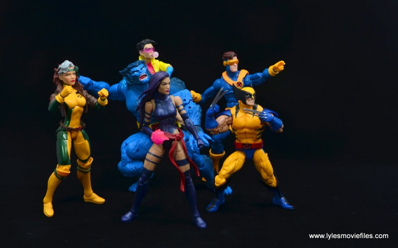 Marvel Legends Jubilee figure review - x-men blue team ready for action