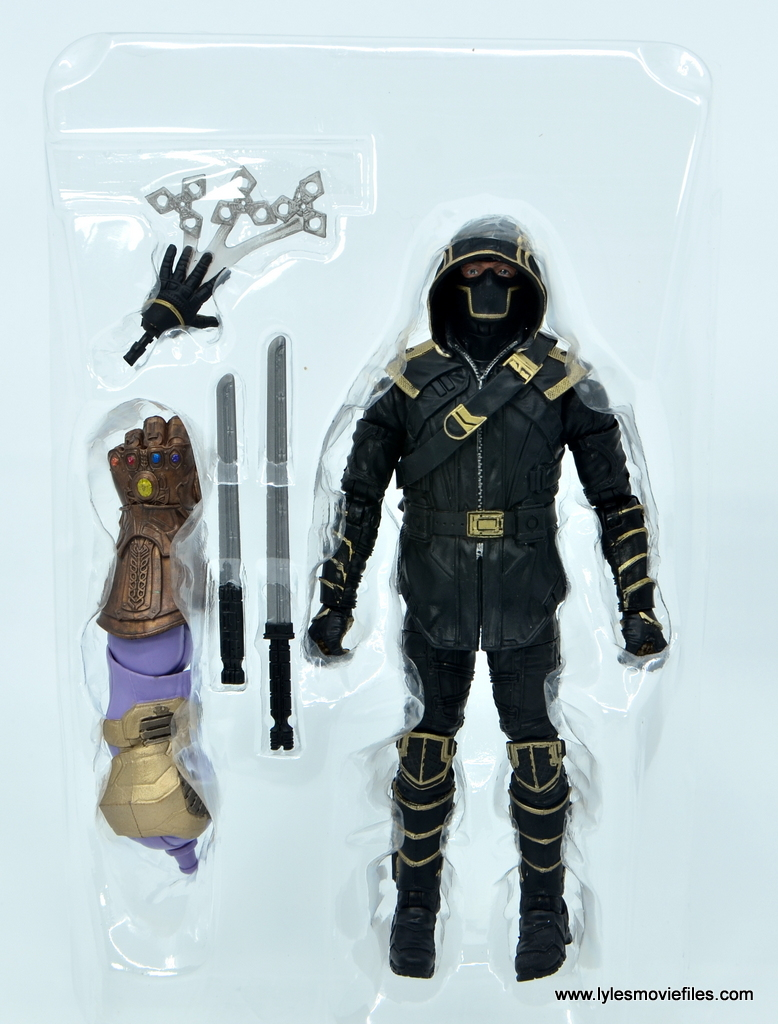 Marvel Legends Ronin figure review - accesories