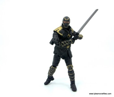 Marvel Legends Ronin figure review - holding long sword with both hands