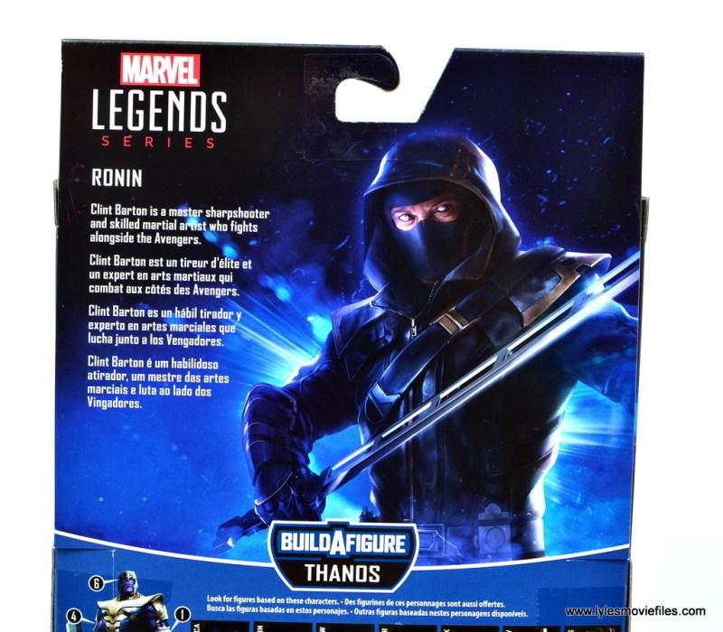 Marvel Legends Ronin figure review - package bio