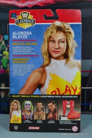 WWE Alundra Blayze figure review - package rear