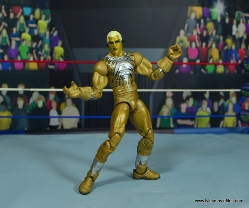 WWE Goldust figure review - arms out