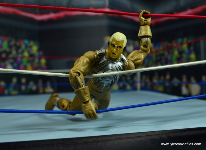 WWE Goldust figure review - in the ropes