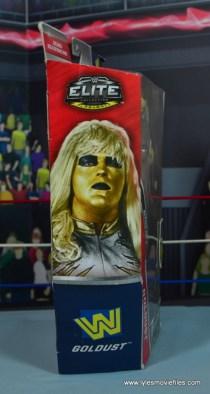 WWE Goldust figure review -package side