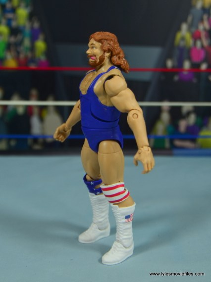 WWE Retrofest Hacksaw Jim Duggan figure review - left side