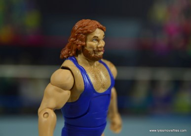 WWE Retrofest Hacksaw Jim Duggan figure review - right side closeup