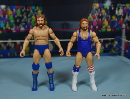 WWE Retrofest Hacksaw Jim Duggan figure review - with legends duggan