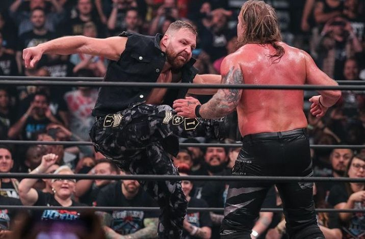 aew double or nothing - jon moxley attacks chris jericho