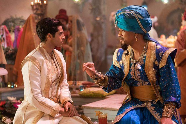 aladdin movie review - aladdin and the genie
