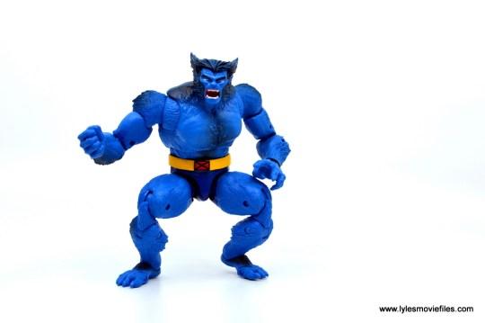 marvel legends beast figure review - crouching