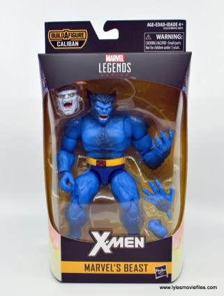 marvel legends beast figure review - front package