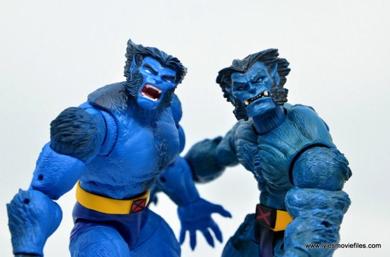 marvel legends beast figure review -hasbro and toy biz beast closeup