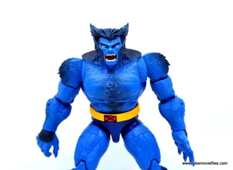 marvel legends beast figure review -wide shot