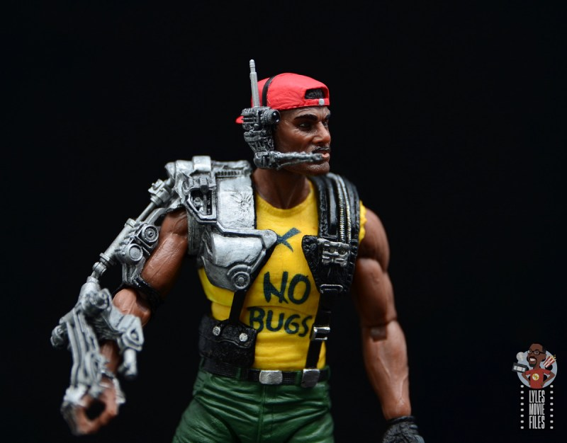 neca aliens sgt apone figure review - mechanical arm close up