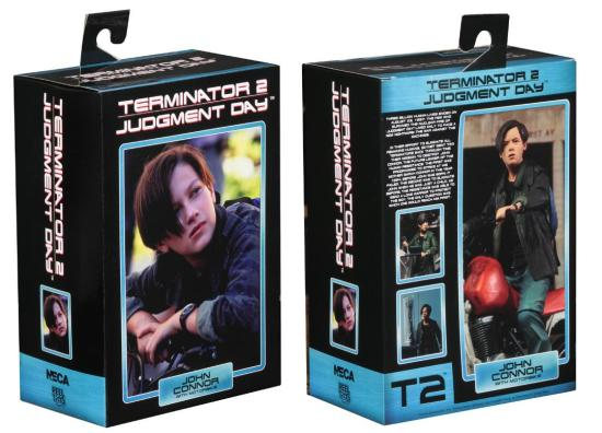 neca terminator 2 judgment day john connor figure - packaging