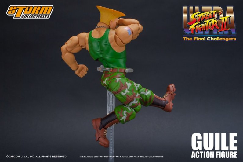 storm collectibles street fighter ii guile figure - high kick