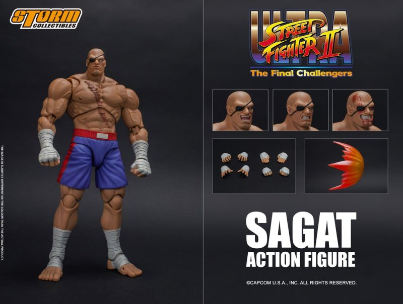 storm collectibles street fighter ii sagat figure - collage