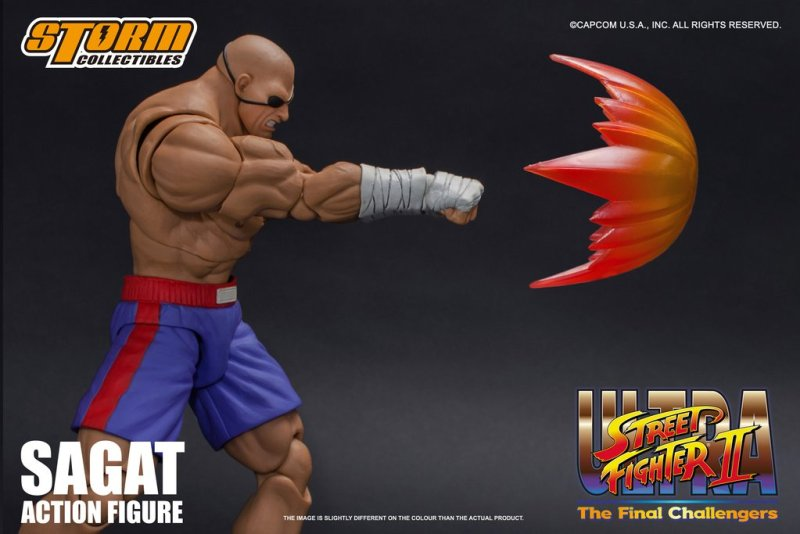 storm collectibles street fighter ii sagat figure - projectile