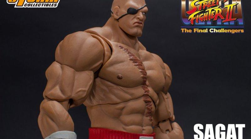 storm collectibles street fighter ii sagat figure - wide shot
