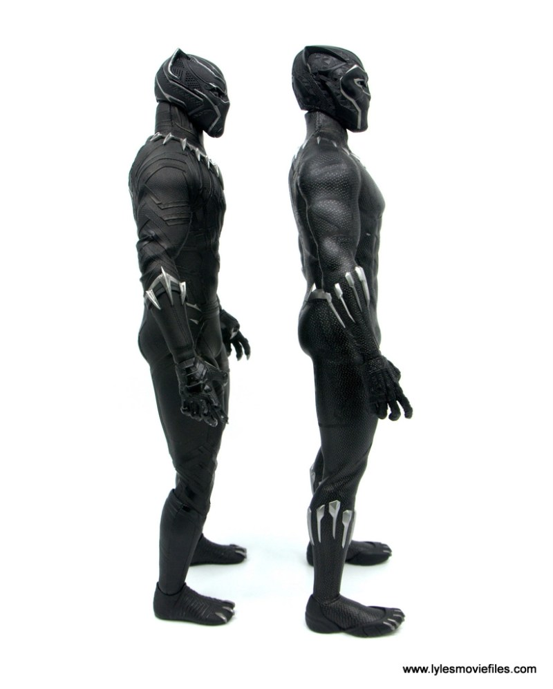 Hot Toys Black Panther figure review - scale with civil war black panther