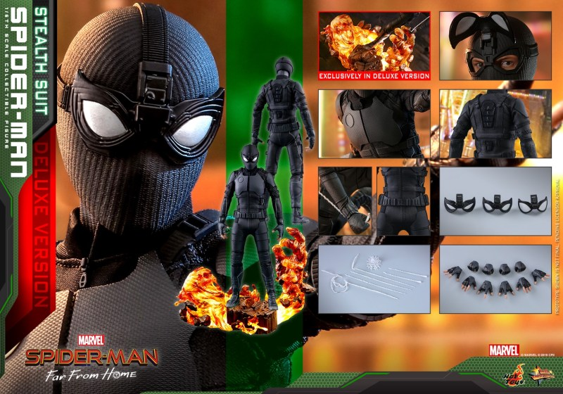Hot Toys Spider-Man Stealth Suit Figure - collage