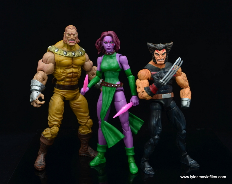 Marvel Legends Blink figure review - age of apocalypse sabretooth and weapon x