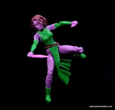 Marvel Legends Blink figure review - balancing on one leg