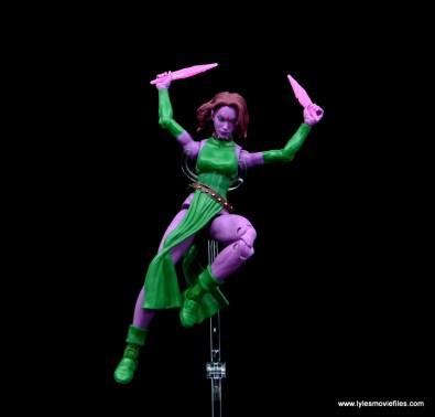 Marvel Legends Blink figure review - leaping