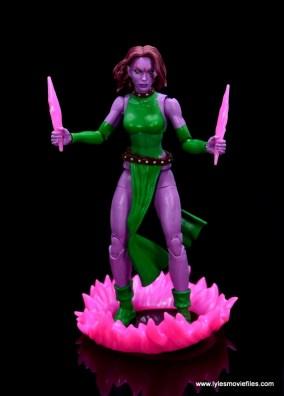 Marvel Legends Blink figure review - standing in portal
