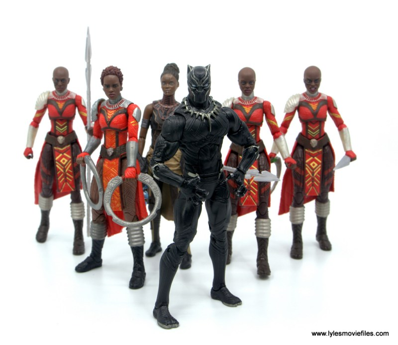 Marvel Legends Dora Milaje figure review - with black panther, nakia and shuri