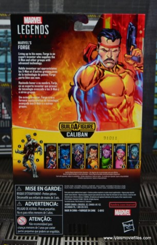 Marvel Legends Forge figure review - package rear