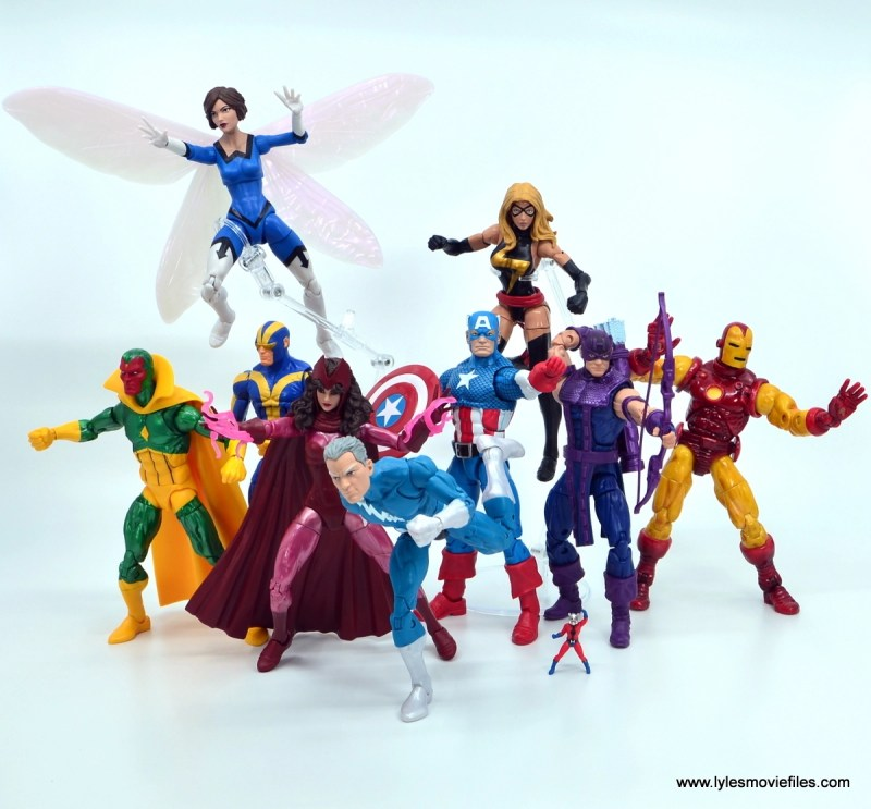 Marvel Legends Magneto, Quicksilver and Scarlet Witch figure review - avengers group shot