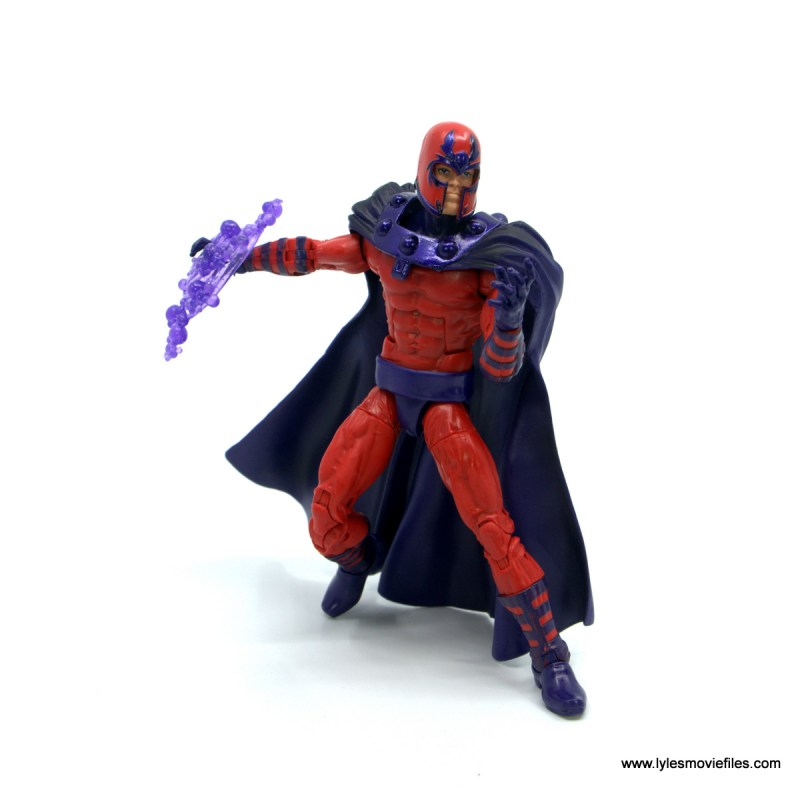 Marvel Legends Magneto, Quicksilver and Scarlet Witch figure review - magneto about to attack