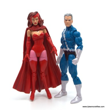 Marvel Legends Magneto, Quicksilver and Scarlet Witch figure review -odinfather scarlet witch and quicksilver