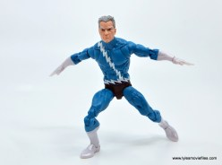 Marvel Legends Magneto, Quicksilver and Scarlet Witch figure review - quicksilver breaking