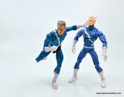 Marvel Legends Magneto, Quicksilver and Scarlet Witch figure review - quicksilver pushing aside original quicksilver
