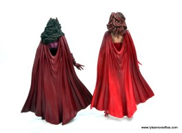 Marvel Legends Magneto, Quicksilver and Scarlet Witch figure review - scarlet witch rear with odinfather scarlet witch
