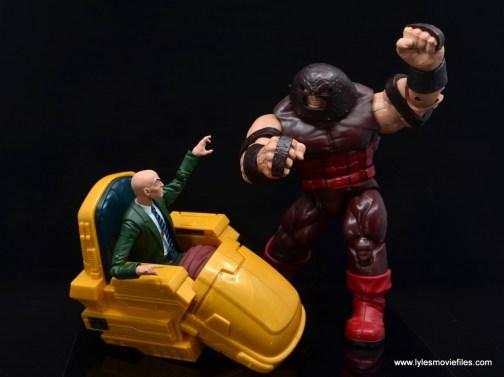 Marvel Legends Professor X figure review - juggernaut charging