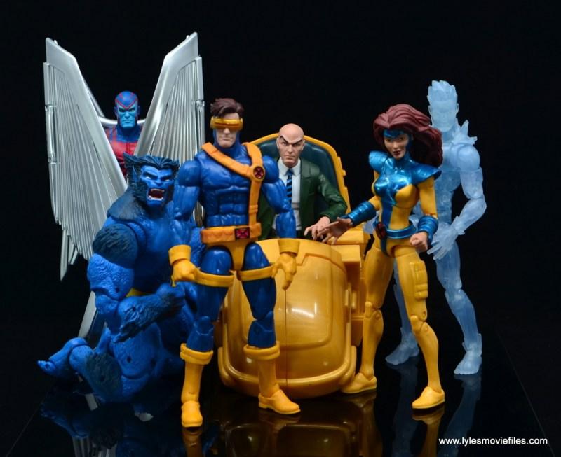 Marvel Legends Professor X figure review - with archangel, beast, cyclops, jean grey and iceman