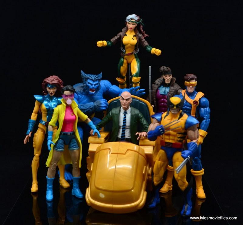 Marvel Legends Professor X figure review - with cartoon x-men team