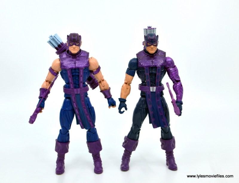 Marvel Legends Retro Hawkeye figure review - with original hawkeye