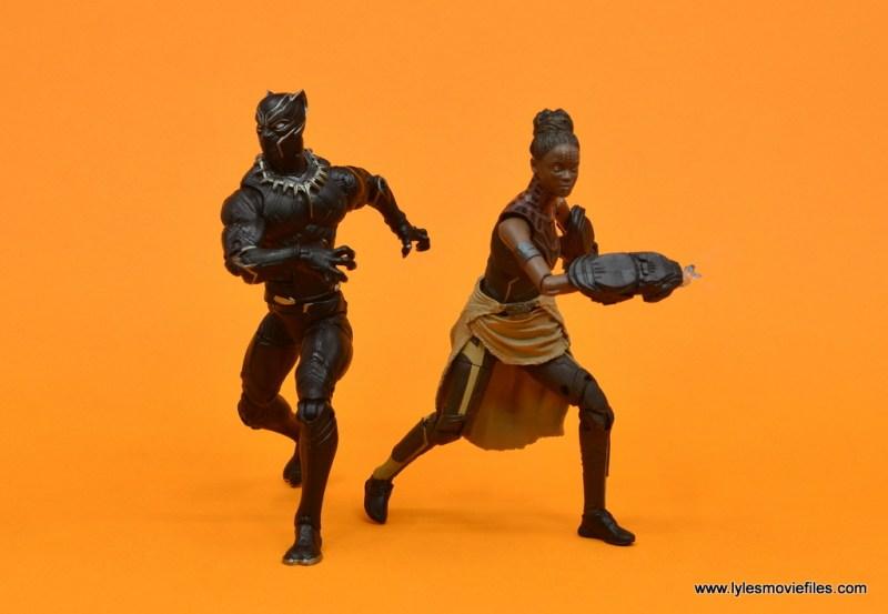 Marvel Legends Shuri figure - back to back with black panther