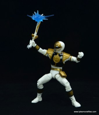 Power Rangers Lightning Collection White Ranger figure review -blocking blast