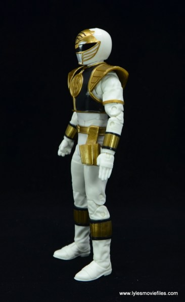 Power Rangers Lightning Collection White Ranger figure review - left side