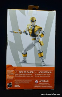 Power Rangers Lightning Collection White Ranger figure review -package rear