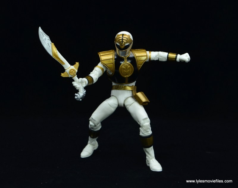 Power Rangers Lightning Collection White Ranger figure review - sword out